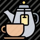 hot, tea, jar, cup, ceramic