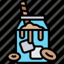 iced, coffee, smoothies, jug, drink
