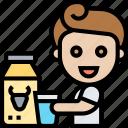 milk, bottle, dairy, calcium, healthy