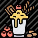 milkshake, smoothies, dessert, topping, summer