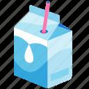 box, breakfast, calcium, carton of milk, dairy, drink, healthy icon