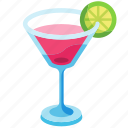 beverage, cocktail, cosmo, cosmo cocktail, cranberry, drink, glass icon