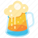 mug, pint, beer, glass of beer, beverage, alcohol, lager icon