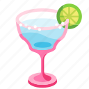 alcohol, beverage, cocktail, glass, lime, margarita, tequila icon