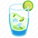 bar, cocktail, drink, lemon, lime, mint, mojito icon