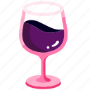 alcohol, bar, beverage, burgundy, drink, red wine, wineglass icon