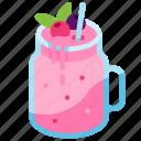 beverage, cocktail, dessert, drink, smoothie, strawberry, sweet icon