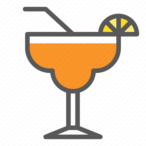 Juice, beverage, drinks, orange juice, glass icon