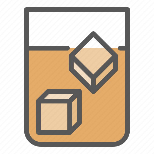 alcohol, beverage, drinks, glass, iced tea, whisky icon
