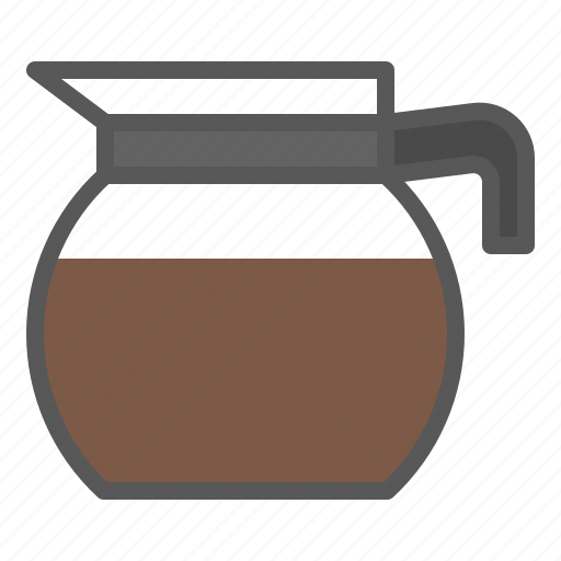 beverage, coffee, coffee jug, drinks, glass icon