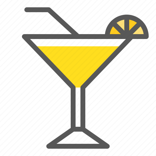Cocktail, mocktail, glass, beverage, drinks, margarita icon