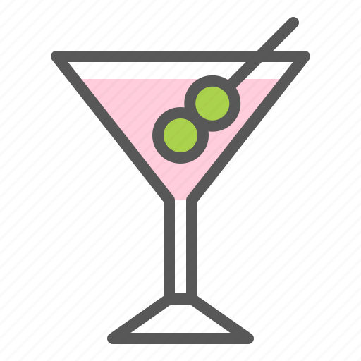 alcohol, beverage, cocktail, drinks, glass, martini icon