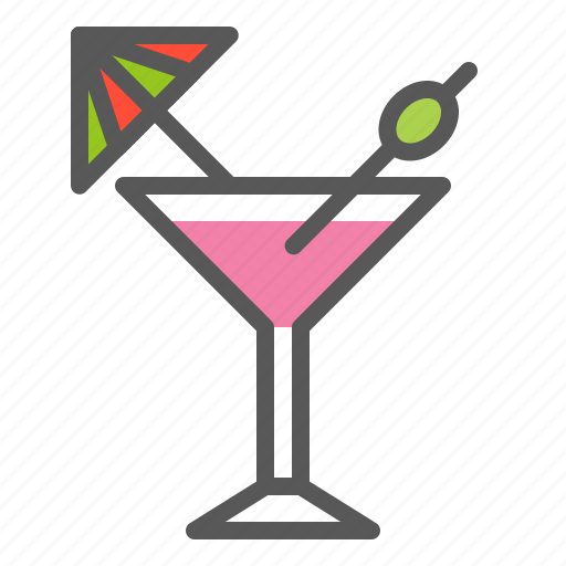 Alcohol, cocktail, glass, beverage, martini, drinks icon