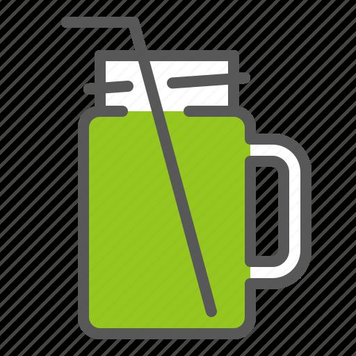 beverage, drinks, glass, juice, mason jar icon