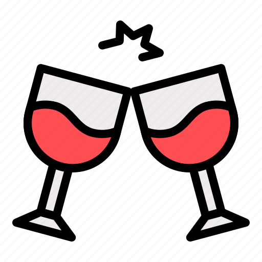 alcoholic, beverage, drink, glasses, wine icon