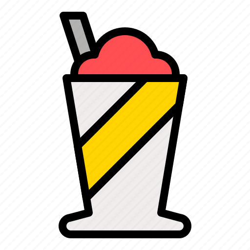 beverage, drink, frappe, ice shave icon