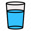 beverage, drink, glasses, water icon