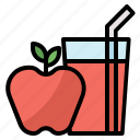 apple, beverage, fruit, glass, juice icon