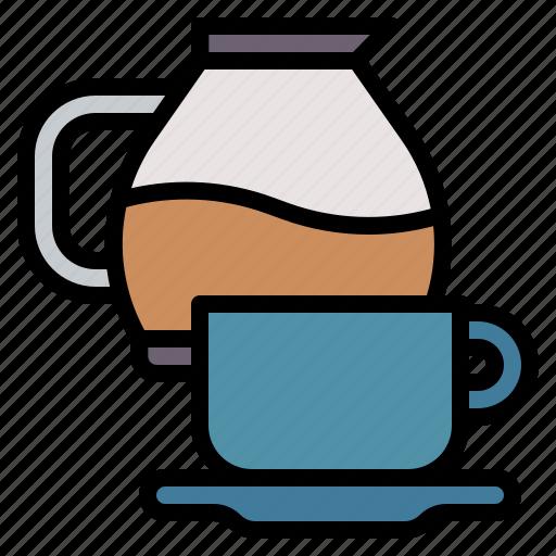 coffee, glass, maker, mug, office icon