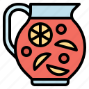 beverage, fruit, jug, mocktail, punch icon
