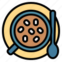 hot, mug, marshmallow, chocolate, spoon icon