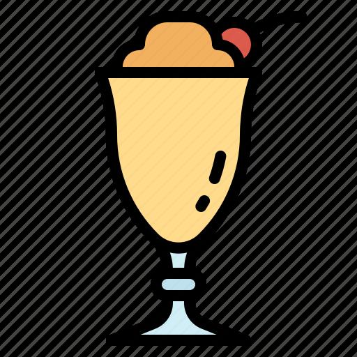cherry, desert, icecream, milkshake, whipcream icon
