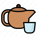 hot, beverage, herbal, tea, teapot icon