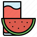 beverage, fruit, glass, juice, watermelon icon