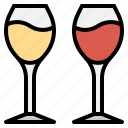 alcohol, beverage, cheers, glass, wine icon