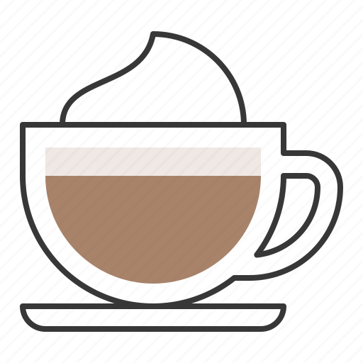 beverage, capuchino, coffee, drinks, milk froth icon