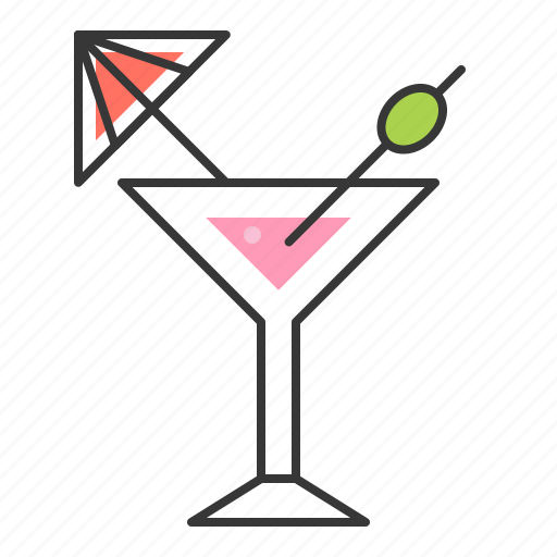 alcohol, beverage, cocktail, drinks, martini icon