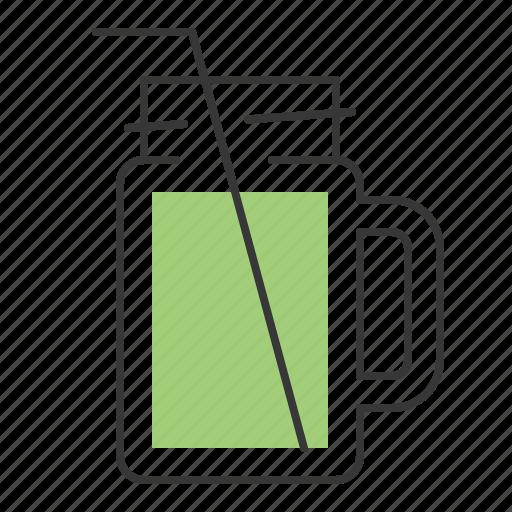 beverage, drinks, juice, mason jar icon