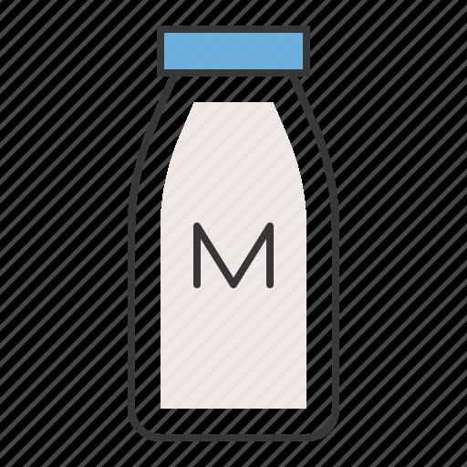beverage, bottle, drinks, milk, milk bottle icon