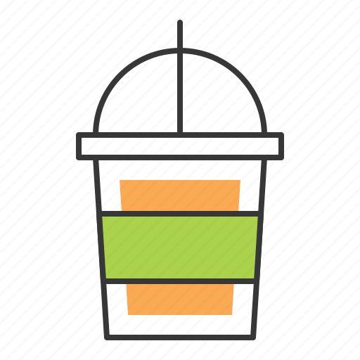 Beverage, drinks, plastic cup, disposable cup, paper cup icon