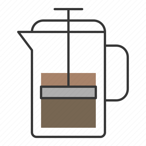 beverage, coffee, drinks, french press icon