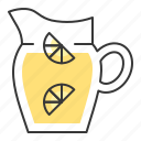 beverage, drinks, jug, juice, lemon, lemonade, lemonade jug icon