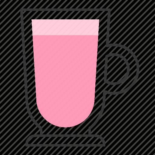 Strawberry, beverage, milkshake, milk, drinks, strawberry milk icon