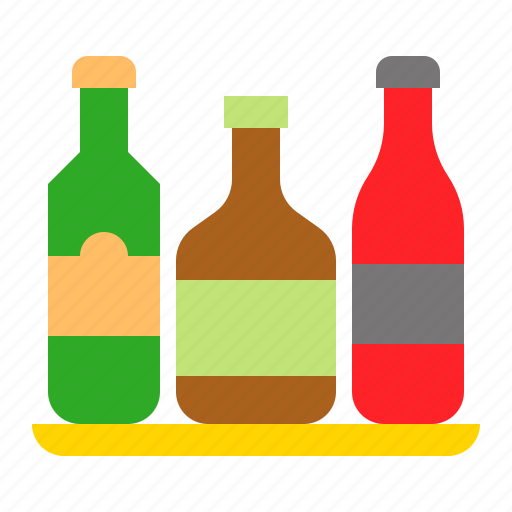alcoholic, beverage, bottle icon