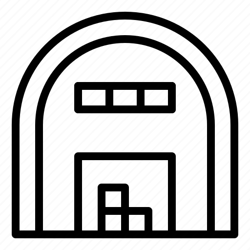 archicture, building, realestate, shed, storage icon