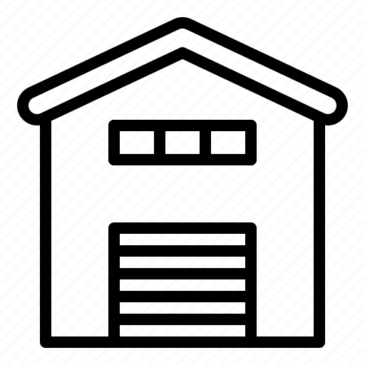 archicture, building, garage, realestate, shed, storage icon