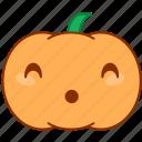 doubt, emoticon, emotion, oh, pumpkin, smile, uh