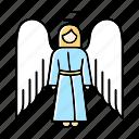angel, archangel, biblical, halo, heaven, religion, wings icon