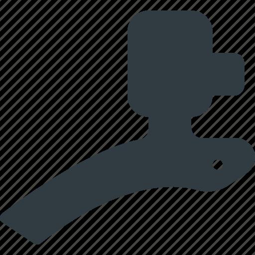 bicycle, bike, component, deceleration, derailleur, lever, rear icon