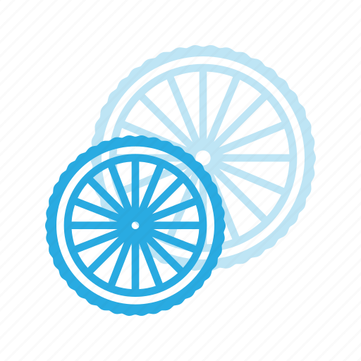 bicycle, bike, component, rear, wheel icon