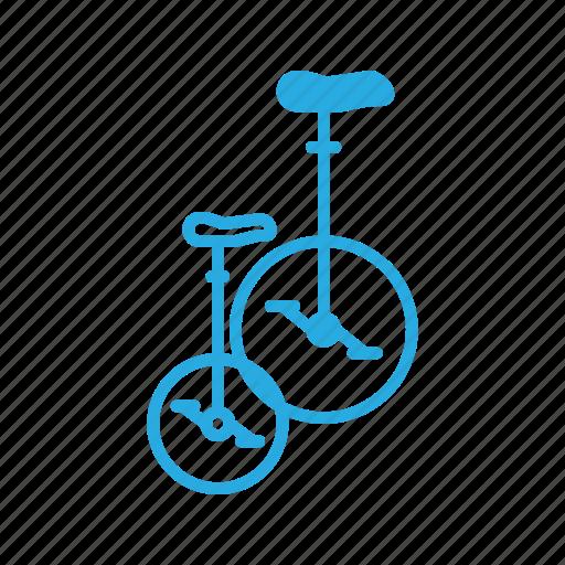 bicycle, bike, retro, transportation, unicycle icon