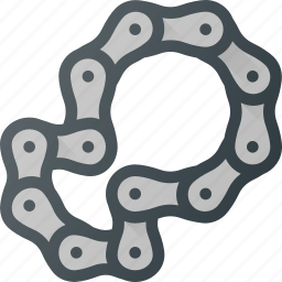 bicycle, bike, chain, component, cycling, link icon