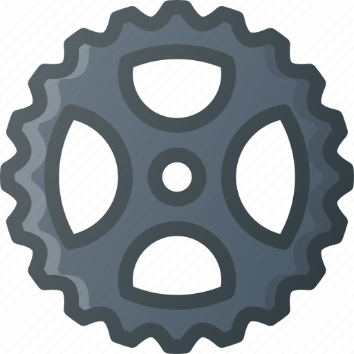 bicycle, bike, cassette, component, drivetrain, front, gear icon