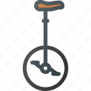 bicycle, bike, retro, transportation, unicycle icon