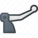 brake, component, deceleration, derailleur, lever, rear icon