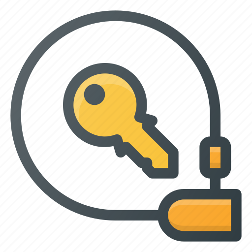 bicycle, equipment, lock, locked, protect, safe, security icon